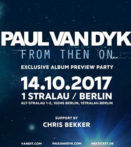 Paul Van Dyk From Then On Tour